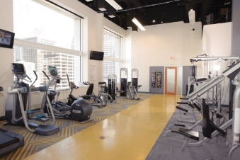 Gym inside Netrality interconnected data center 1301 Fannin Houston
