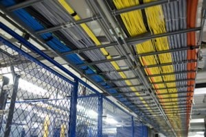 Cables in St. Louis interconnected data center